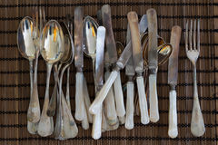 Antique cutlery Stock Photos