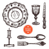 Antique Cutlery Set Stock Photography