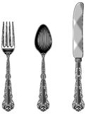 Antique Cutlery Royalty Free Stock Photos