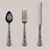 Antique Cutlery. Stock Photos