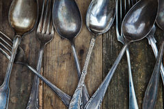 Antique cutlery Royalty Free Stock Images
