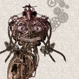 Antique Cyborg. Portrait of an antique Cyborg Royalty Free Stock Image
