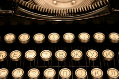 Antique Cyrillic Typewriter Stock Photo