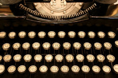 Antique Cyrillic Typewriter Stock Photography