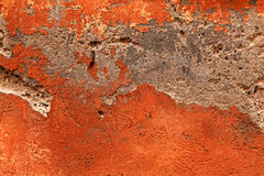 Antique damaged orange plaster texture Royalty Free Stock Photos