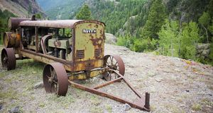 Antique Davey Generator, Ute Ulay Mine, Henson Ghost Town, Alpine Loop Backcountry Byway stock image