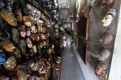 Antique dealer arranging produks in Triwindu Stock Photos