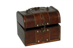 Antique decorated wood box Royalty Free Stock Image