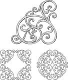Antique decorative element Stock Image