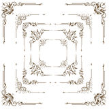Antique decorative elements, set corners for design. Royalty Free Stock Image