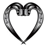 Antique decorative heart emblem royalty free stock photography