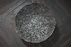 Antique decorative metallic fruit dish Stock Photo