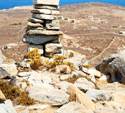 Antique  in delos greece the historycal acropolis and old ruin s Royalty Free Stock Images