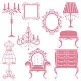 Antique design element set Stock Image