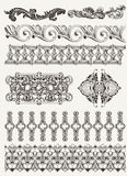 Antique design elements and page decoration Stock Images