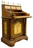 Antique Desk. Antique Hand Painted Small Desk with Brass Gallery Stock Photography