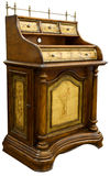 Antique Desk. Antique Hand Painted Small Desk with Brass Gallery Royalty Free Stock Photo