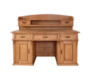 Antique desk. Starý antique wooden desk in 1891 isolated Stock Image