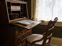 Antique desk and chair Royalty Free Stock Image