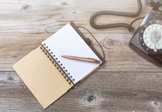 Antique desktop objects with bright hazy light Stock Image