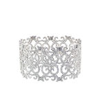Antique diamond art deco bracelet Royalty Free Stock Photos