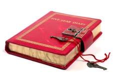 Antique Diary Book Stock Photos