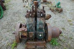 Antique diesel engine used to help cut jade. Royalty Free Stock Image