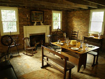 Antique Dining Room. A dining room full of 19th century antiques stock photo