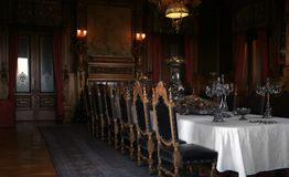 Antique dinning room. Historic dinning room, Chapultepec's Castle at Mexico Df Stock Image
