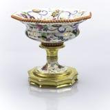Antique dish. The old museum exhibit of ceramics Royalty Free Stock Photos