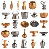Antique dishes set Stock Photography