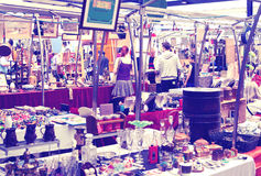 Antique display Greenwich market. Famous place to buy an art, crafts, antiques etc., London Stock Photo