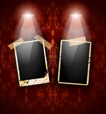 Antique distressed photoframes Royalty Free Stock Photos