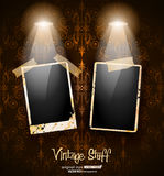 Antique distressed photoframes Royalty Free Stock Photo