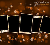 Antique distressed photoframes Royalty Free Stock Image