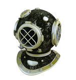Antique diver helmet Royalty Free Stock Photo