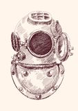 Antique divers helmet Royalty Free Stock Photos