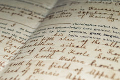 Antique document Royalty Free Stock Image
