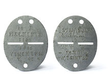 Antique dog tag. Of polish soldier from the second war royalty free stock photo