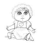 Antique Doll vector illustration