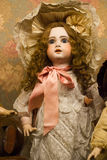 Antique Doll. With long blond hair Royalty Free Stock Photography