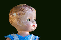 Antique Doll On Green Royalty Free Stock Images