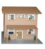 Antique Doll's House. Isolated with clipping path Royalty Free Stock Image