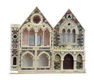 Antique Doll's House. Isolated with clipping path Stock Image