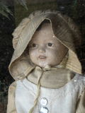 Antique doll. For sale in shopwindow in Blue Ridge, Georgia Royalty Free Stock Photography