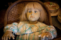 Antique doll. Doll at antique store Stock Image