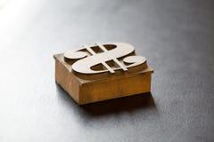 Antique Dollar Typeface stock image
