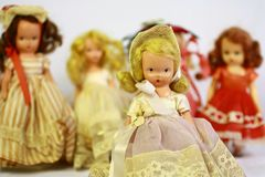 Antique dolls Stock Images