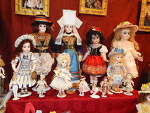 Antique dolls. Crafts. Collectible author's dolls. Stock Photography