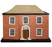 Antique Dolls House. Isolated with clipping path Stock Photography